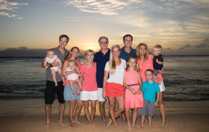 generational photo with grandparents and great grandkids