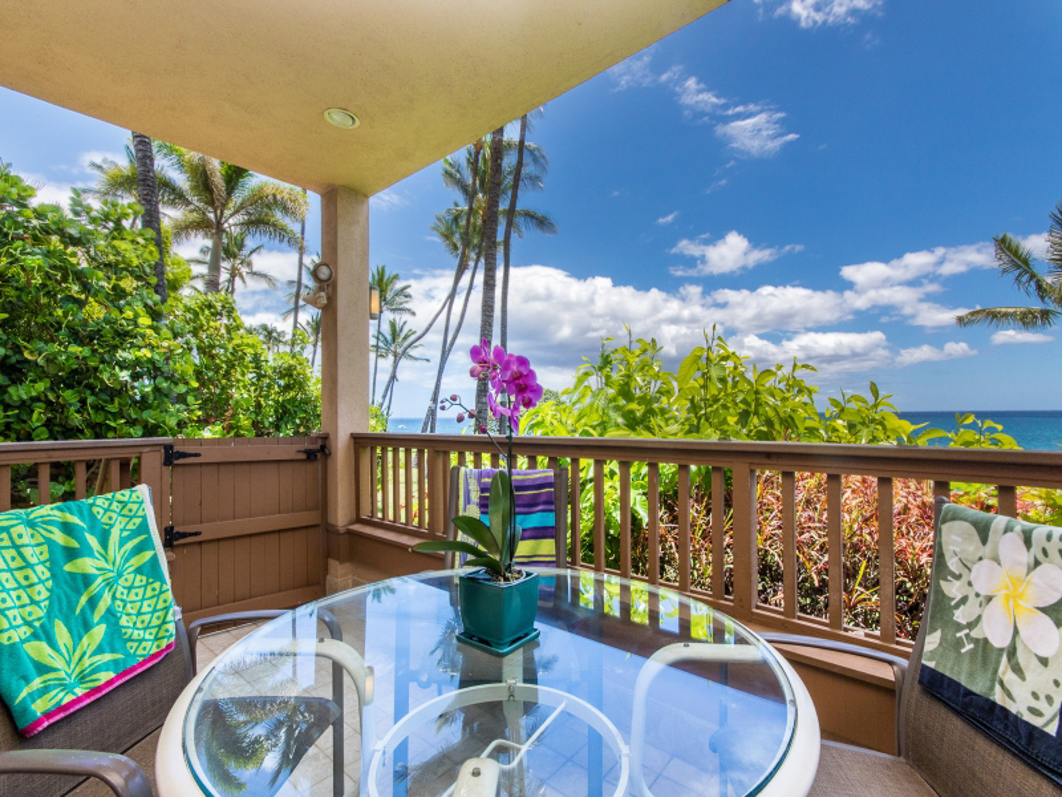 real estate photography patio with view