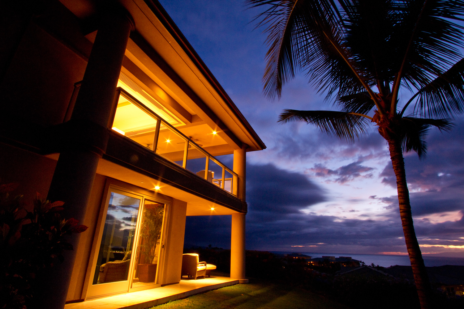 real estate photo with a view of ocean